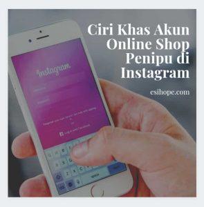 Akun online shop penipu